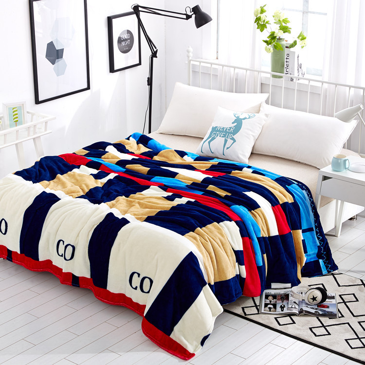LYN&GY New Super Soft Flannel Fleece Winter Blankets On The Bed cover Plaid Throw Traval Blanket cobertor bedsheet 150/180/200