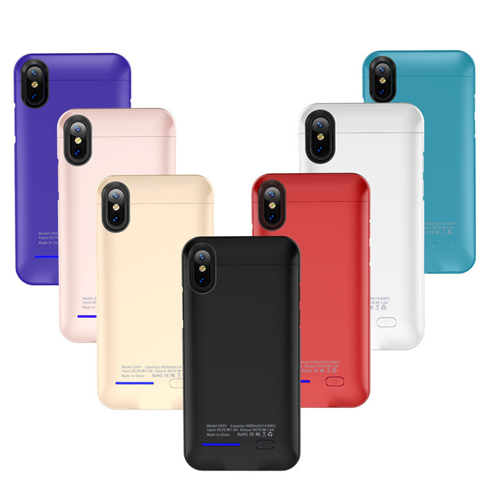 NTSPACE 5000mAh Ultra Thin Portable Power Case For iPhone XS MAX Battery Case External Charger Cover in Battery Charger Cases from Cellphones Telecommunications