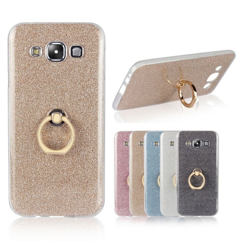For Samsung Galaxy E5 Case Transparent Soft Tpu Case Glitter Metal
