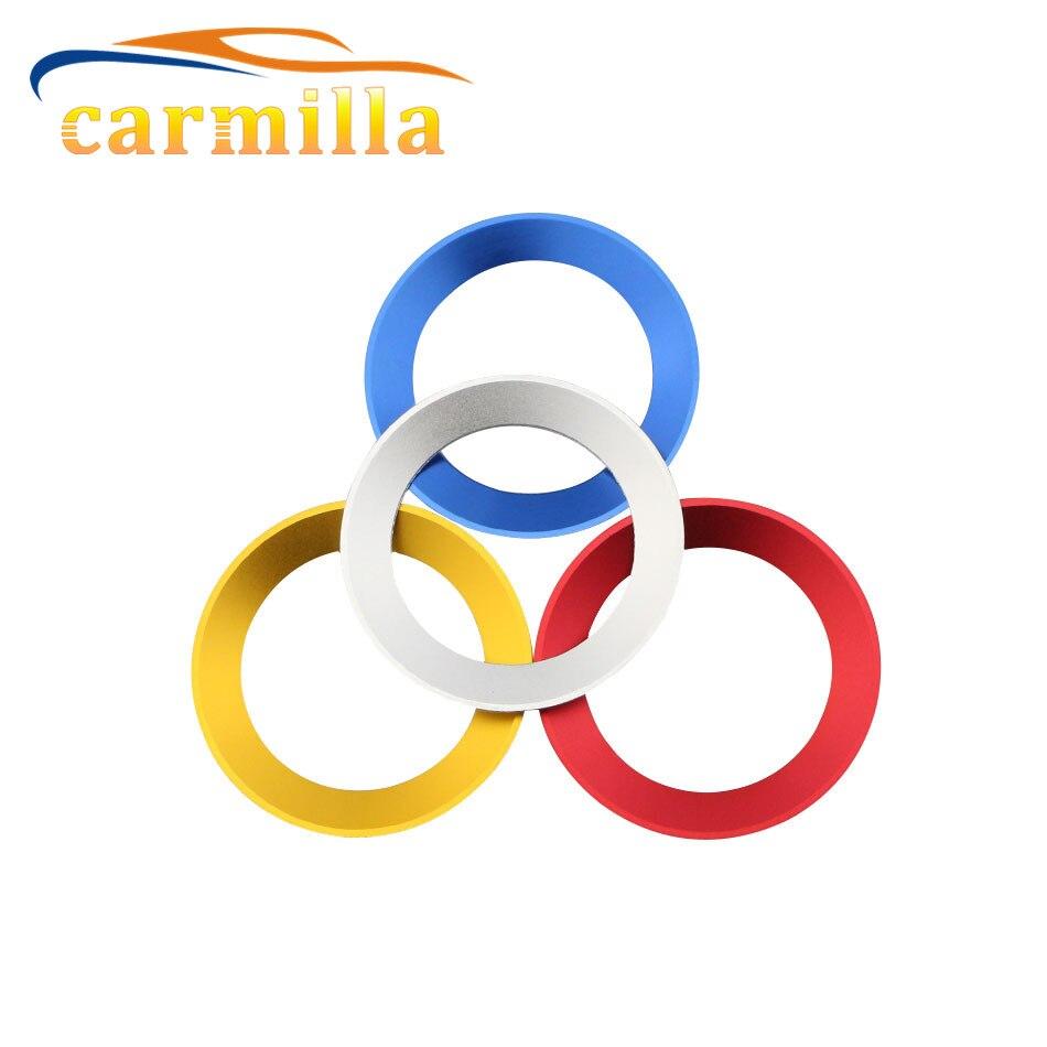 Aluminium Trim Car Steering Wheel Cover Logo Ring For