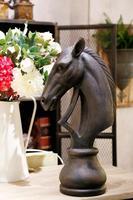 Креативная Смола голова лошади статуя домашний декор ремесла украшения комнаты офис винтажные предметы лошади Смола голова животного стат