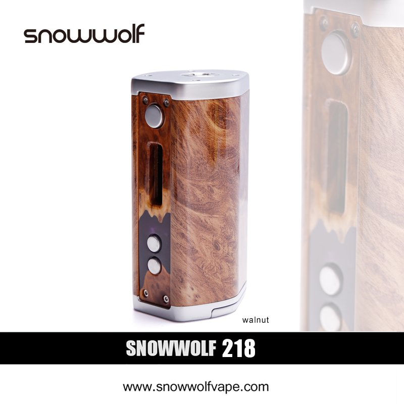 3pcs/lot SnowWolf 218W Box Mod Vape e-cigarettes Kit Battery Powered by 18650 Mod Box E Cigarette Variable 10-218W Tank Vapor original electronic cigarette mod vape pen smoant charon 218w tc box mod mechanical mod leather cover free shipping
