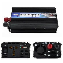 Modified Sine Wave Inverter DC 12/24V to AC 110/220V 1000W with Universal Socket USB Port for Car Solar Power Inverter(China)