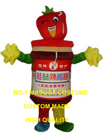 תחפושת קמע רוטב צ 'ילי פלפל חריף דמות מצוירת גודל מבוגרים קוספליי קרנבל תלבושות מותאם אישית 3206