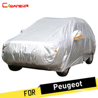 Cawanerl Car Cover Auto Outdoor Sun Snow Rain Protector Anti UV Cover Dust Proof For Peugeot 1007 107 2008 206 207 208