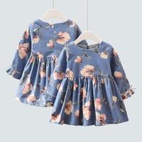 Jesień Zima Sukienka Dziewczyny Mody Dzieci Ubiera Dzieci Sukienka Słodkie Ubranka dla dzieci Urodziny Księżniczki Sukienka Na Wesele