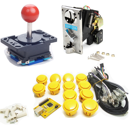 1 Kit Of Single Coin Single Player PC/ PS 3 Joystick Controller, USB T
