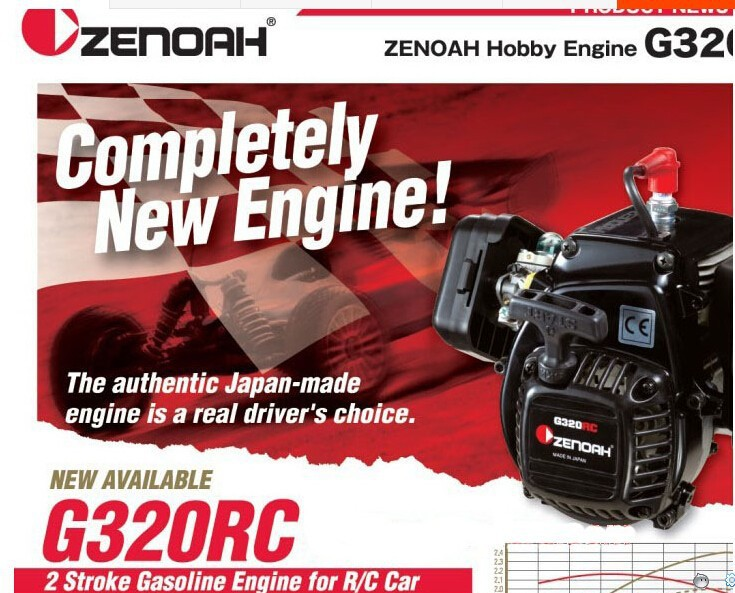 Zenoah G320RC 31.8cc 4-Bolt Engine - Complete with Clutch BAJA FG X1 Losi 5T 27 5cc 2t 4 bolt gasoline engine walbro 668 carburetor ngk spark plug 7000 light clutch fits hpi baja 5b losi 5ive t redcat