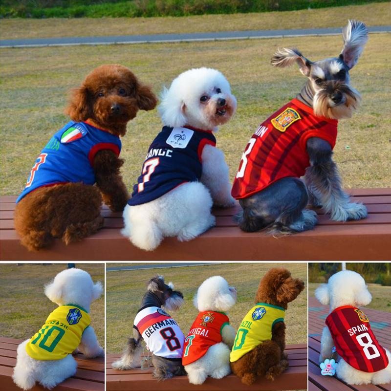 e8fe00878 Cotton pet dog cloth puppy dog vest for small dog sport basketball football  shirt for dog