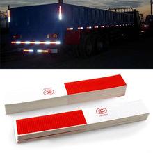 1PCS Red&Sliver White Car Body Reflective Sticker Night Driving Safety Warning Stripe