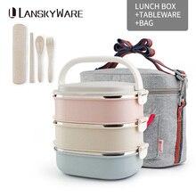Тепловой Ланч-бокс Bento контейнер для еды для детей, школы, кемпинга, портативный, для пикника, с набором посуды, сумка, контейнер для хранения еды