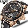 2019 Новый LIGE Для мужчин s часы лучший бренд класса люкс Высокое качество автоматические механические спортивные мужские часы Tourbillon часы Водо...