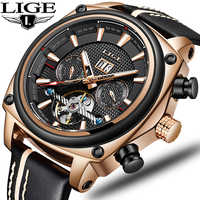 2020 New LIGE Mens Watches Top Brand Luxury High Quality Automatic Mechanical Sports Watch Men Tourbillon Watch Waterproof Clock