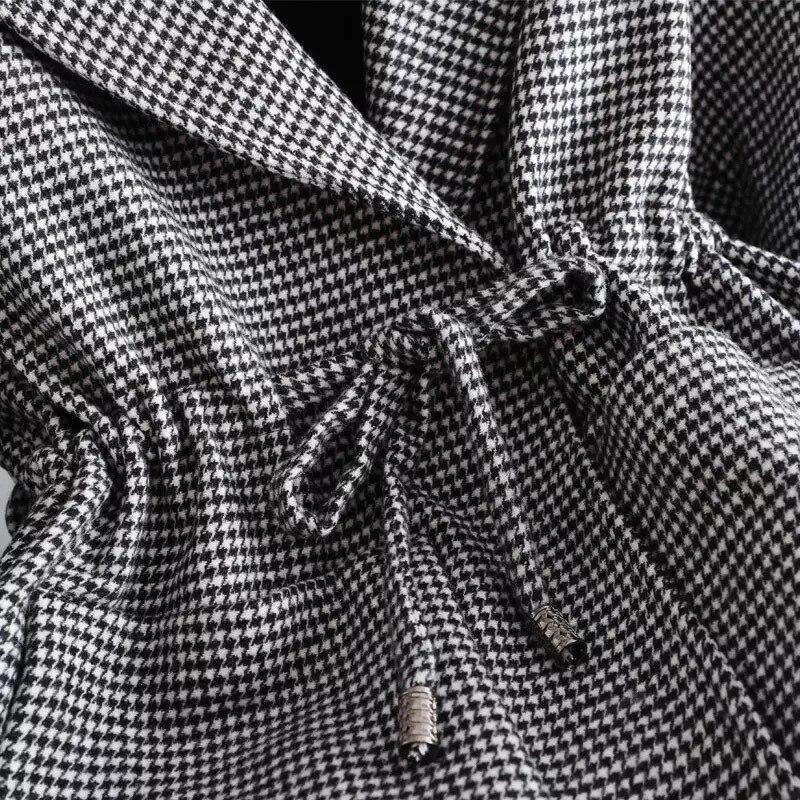 Tweed Femminile Cappotto Quadri 11