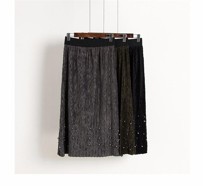 women velvet skirt 01