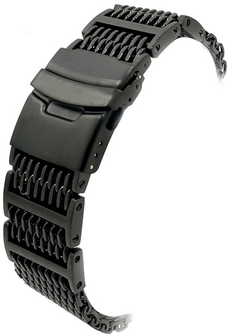 1PCS 20mm 22mm 24mm 304 Stainless Steel Watch bands watch straps black and silver color available -WBS1135 1pcs canvas fabric nylon watch straps bands black army green brown gray striped replace wristwatch bracelet width 20mm