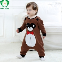 Cotton Newborn Baby Rompers Baby Boy Girl Clothes Infant Coverall Pajamas Cartoon Animal Bear Cute Jumpsuit Overall