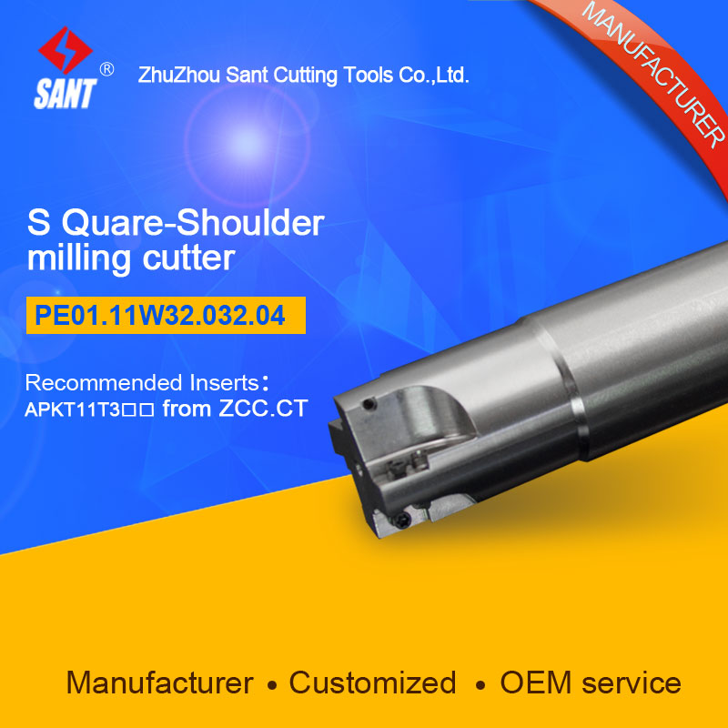 S-shoulder milling cutter Indexable insert APKT11T3 From ZCC.CT disc PE01.11W32.032.04/EMP01-032-XP32-AP11-04 hot selling Abroad