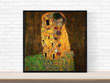 Масляная Печать на холсте Настенный декор картины разные поцелуи