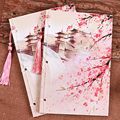 Hot Antiguo libro diario de papel de estilo Chino Papelería cuaderno de la vendimia de las borlas del diseño hecho a mano clásico impresión originalidad XM