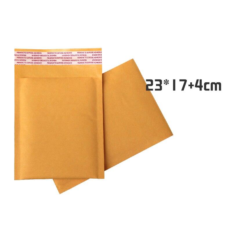 100pcs/lot 17cm*23cm+4cm Golden Kraft Bubble Mailers Self Adhesive Padded Envelopes