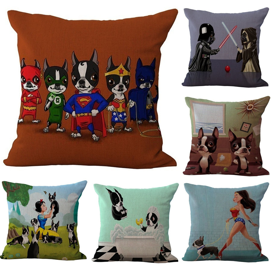 lovely dog cushion covers for sofa seat cushion cover star wars dog pattern pillow case cartoon. Black Bedroom Furniture Sets. Home Design Ideas
