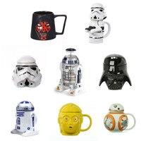 Kahve kupaları seramik bardak ve kupalar beyaz asker R2-D2 CP03 Darth Vader işareti yaratıcı serisi Drinkware