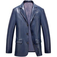 Free Shipping Fall 2015 New Men S Fashion Leather Suit High Quality Men S Large Yards
