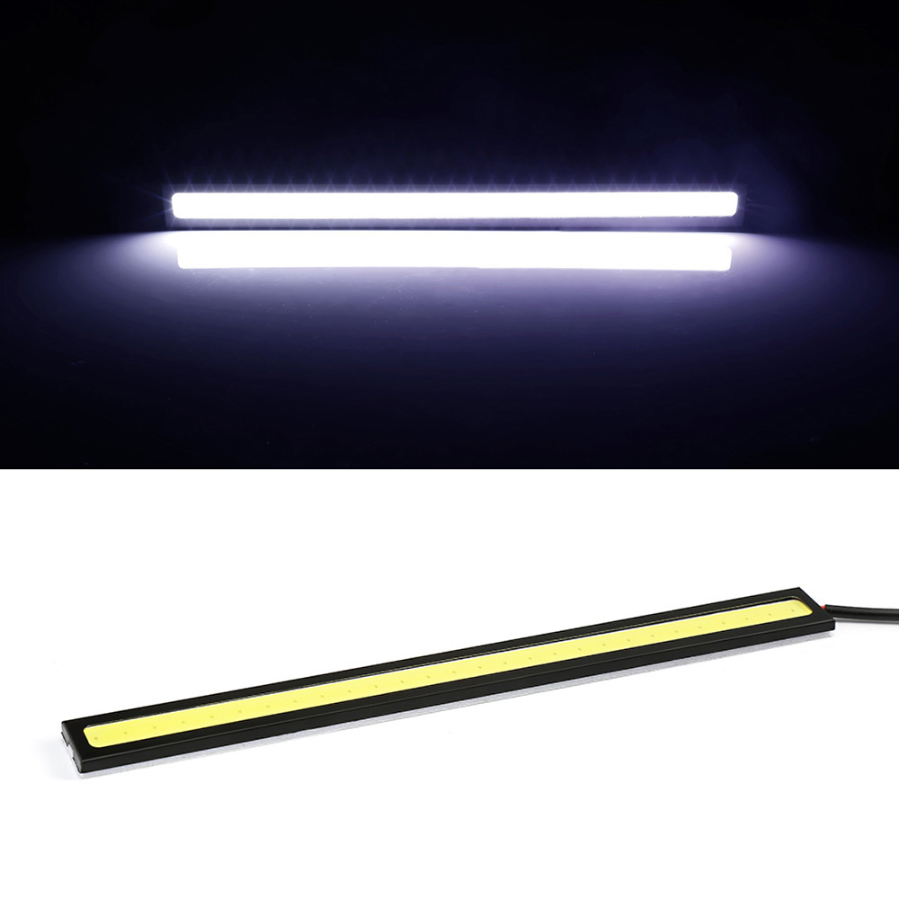 1PIC 17cm COB LED DRL Driving Daytime Running Lights Strip 12V COB DRL LED  Bar Stripes Panel Lamps Car Light For VW Passat B6