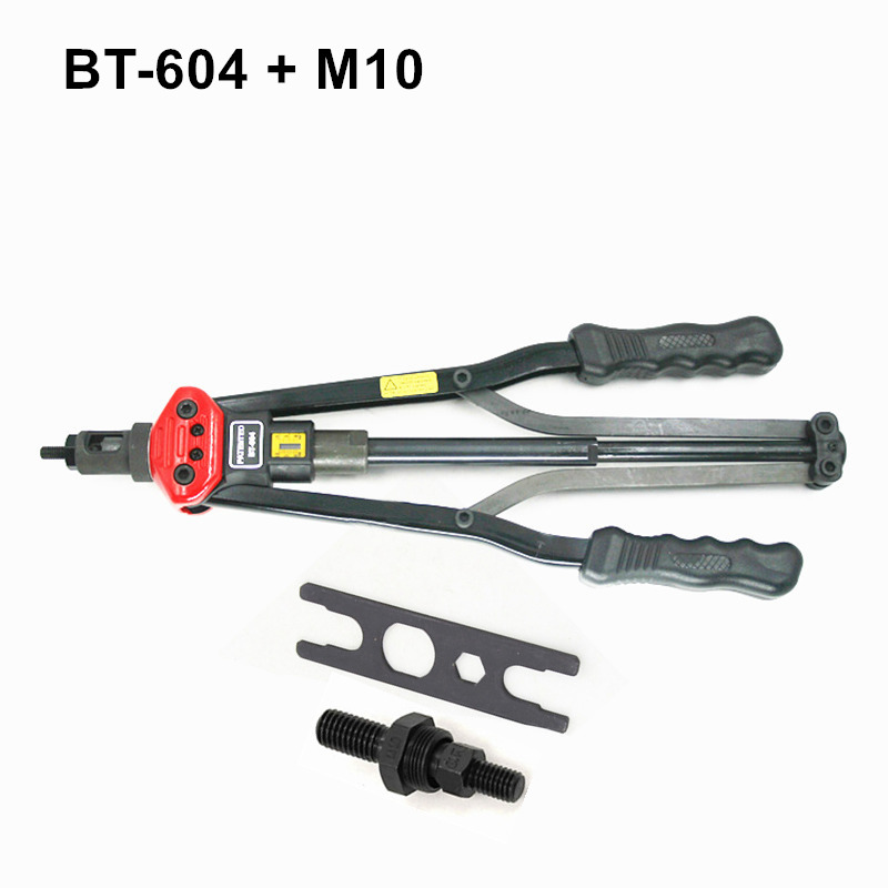 high quality 440mm 17 inch hand riveter pull rivet nut riveting tools with one die of M10 free shipping BT-604 auto remove nut  цены