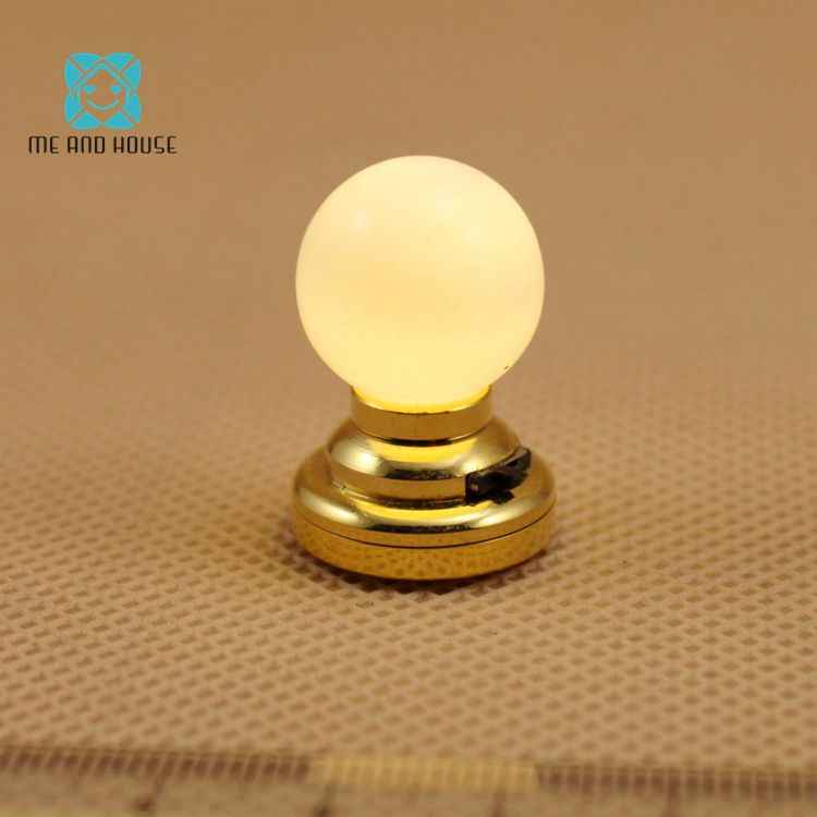 Doll House Miniature battery-operate powered mini led ceiling lamp 1:12