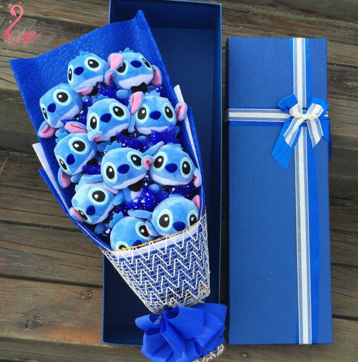 Holiday Gift Cartoon Stitch Bouquet For Graduation