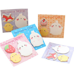 1pcs Rabbit Sticky Notes Kawaii Memo Sheets Cute Stationery Novelty Memo Pad Student Planner Stickers Office School Supplies