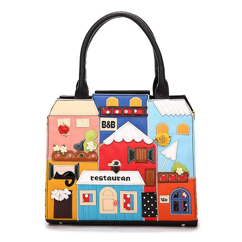 IPinee haute qualité sac à main décontracté dames PU cuir Cube sac bande dessinée sacs à bandoulière femmes sacs à main marques célèbres - 2