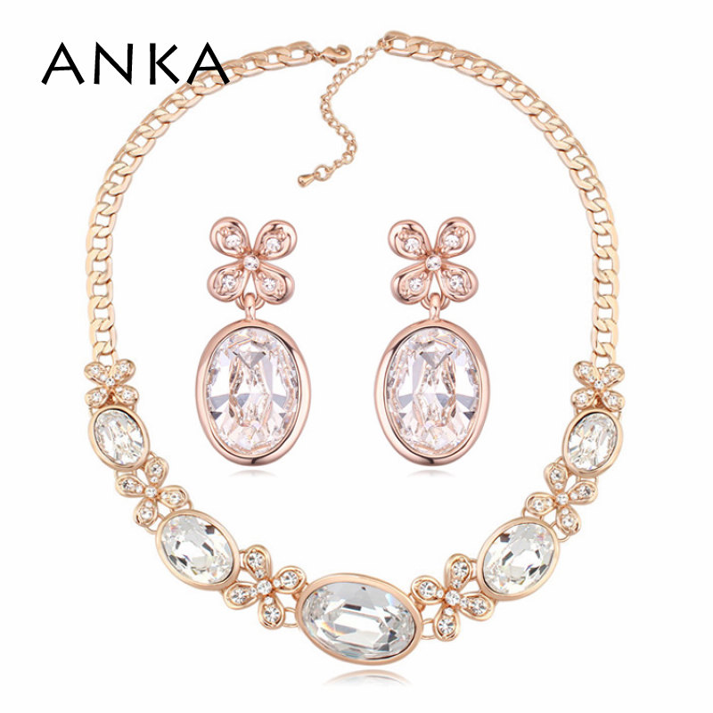 ANKA Top Fashion Selling Classic Women Necklace set Main Stone Crystals from Austrian #115854ANKA Top Fashion Selling Classic Women Necklace set Main Stone Crystals from Austrian #115854