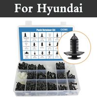 415pcs Car Retainer Clips&Fasteners Kit 18most Popular Sizes Rivets Set For Hyundai Coupe Dynasty Elantra Equus Genesis Veloster