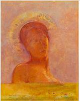 Handmade Portrait Art Abstract Oil Painting Wall Decor Paint on Canvas Closed Eyes By Odilon Redon Famous Artwork
