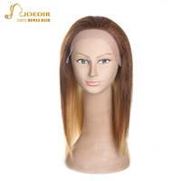 JOEDIR Hair Straight Lace Front Human Hair Wigs U Part Silk Base Lace Wig With Baby Hair Brown/Black/Blonde/Red Wig For Women