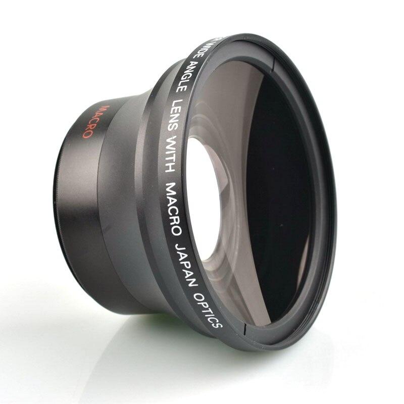 Objectif grand Angle professionnel 58 MM 0.43x HD (avec partie Macro) pour Canon EOS rebelle 77D T7i T6s T6i T6 T5i T5 T4i T3i SL2