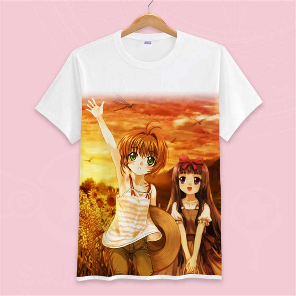 高 Q ユニセックスアニメ Cos カードキャプター木之本さくら綿カジュアル Tシャツ Tシャツ Tシャツトップス