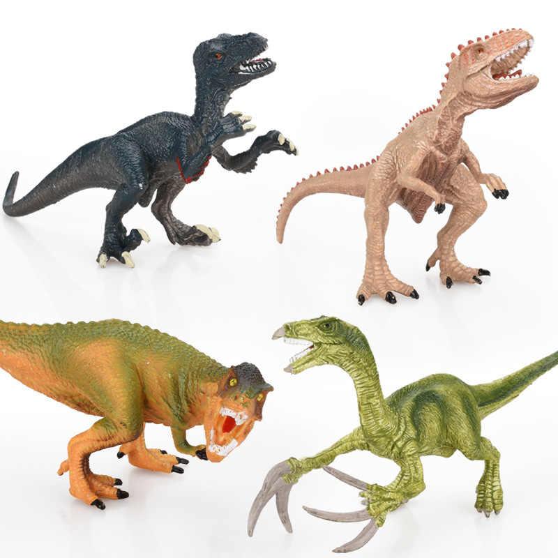 Dinossauro Jurassic Park Modelo Brinquedos para Criança Dragão Velociraptor Animal Conjunto de Brinquedos para Meninos Figuras de Ação Figura do Jogo Para Casa Deco kid