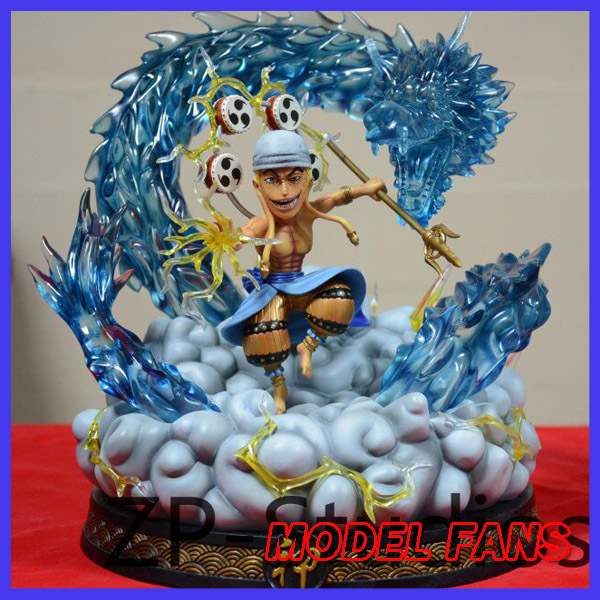 все цены на MODEL FANS IN-STOCK one piece 33cm sd version Enel fighting stance gk resin statue figure for collection