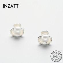 Stud-Earrings 925-Sterling-Silver Jewelry-Accessories Flower Party Women Fashion Real