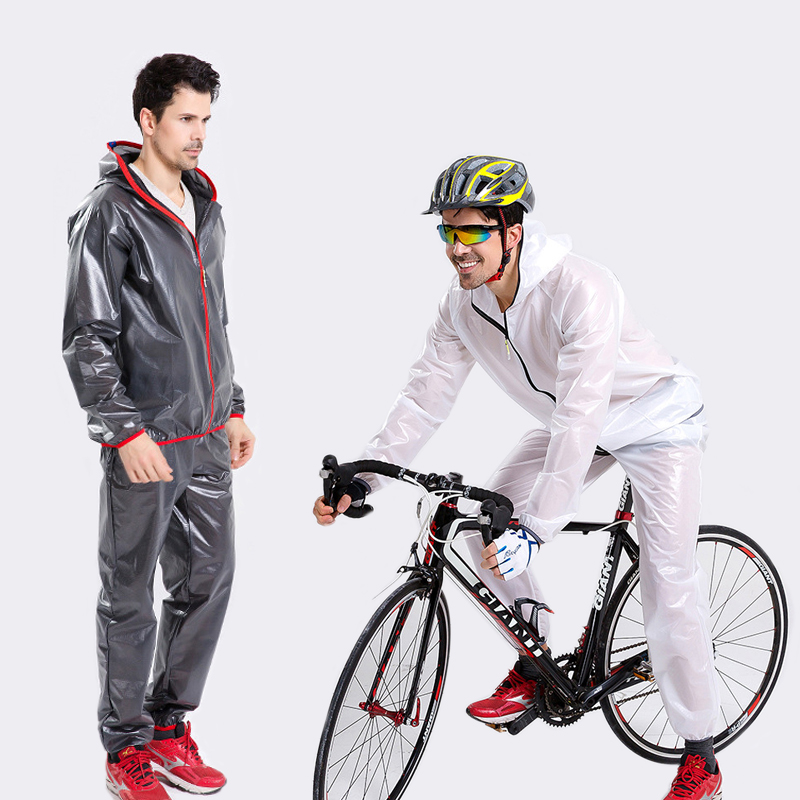 Waterproof Cycling Rain Jacket Windproof Wind-coat Breathable Cycling Pants Riding Jersey Outdoor Rain-day Sport Clothes Set