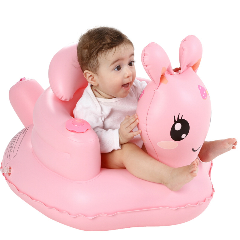 Children's Chair Baby Kid Children Inflatable Bathroom Inflatable Sofa Chair Seat Learn Portable Multifunctional Baby Rabbit Toy