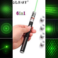 ULIFART Best selling 5MW 532nm Star Green Laser Pointer With 5 pattern heads visible beam light