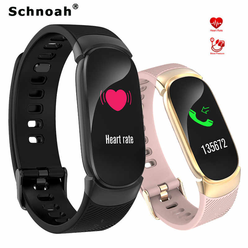 Schnoah Fitness Tracker Men Women Sport Smart Watch Swim Cycling Step Counter Pedometer Relogios Masculino for Android IOS + Box