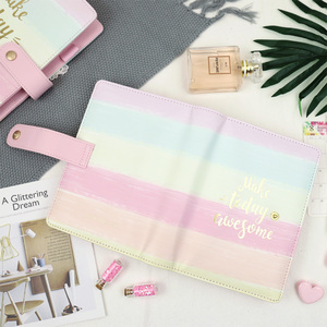 Image 4 - Jamie Notes Cute Pink Leather Binder Notebook A5A6 2019 Planner Sweet Girly Diary Book Office & School Gift Stationery Supplies