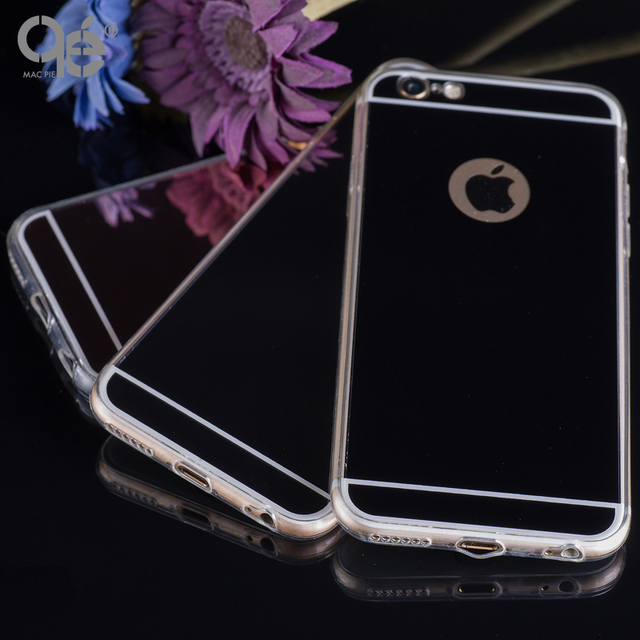 Fashion Luxury Mirror Soft Phone Case For Iphone 6 6S 6S Plus 5 5 SE