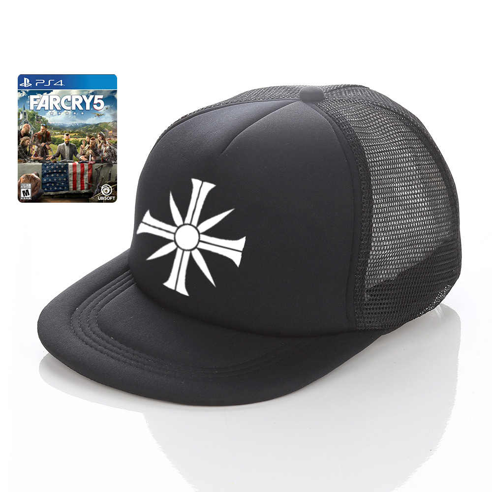 92c25cdc03d Dropshipping Far Cry 5 Snapback Hat Skies King Nick Rey Trucker Hat Action  Adventure Shooter Game